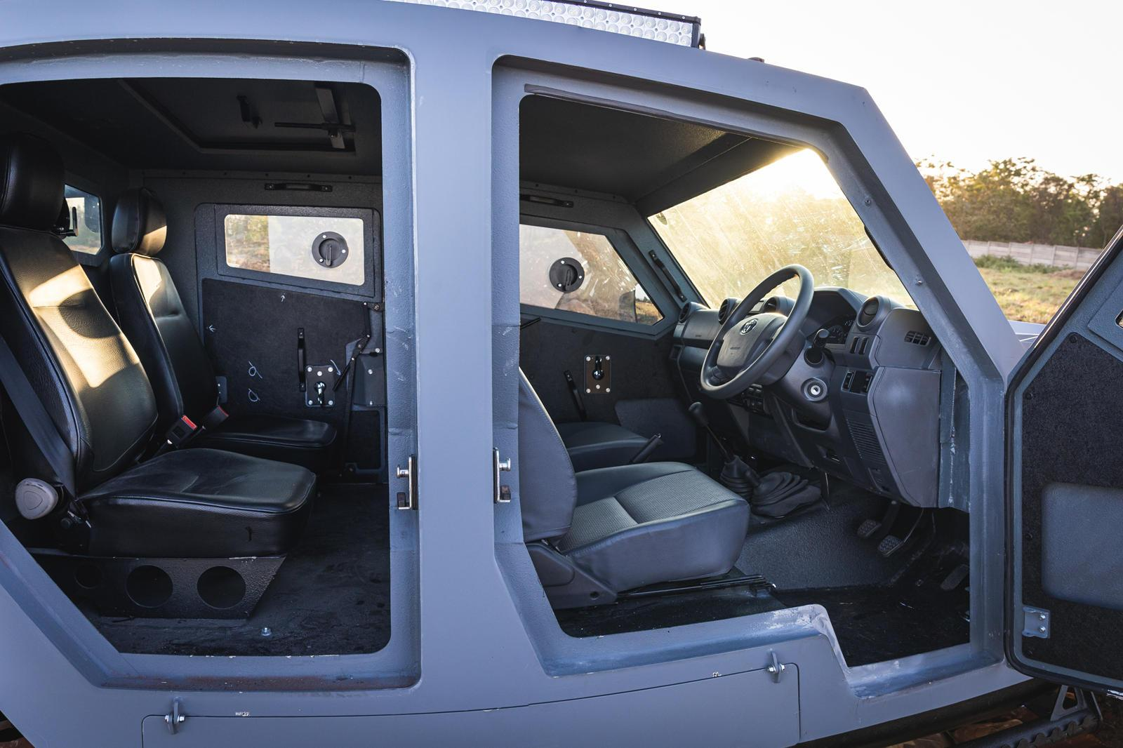 Armored Toyota Land Cruiser Can Drive Over Land Mines