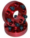 Alloy USA 11310 Red Aluminum Wheel Adapters Pair 5x4.5 to 5x5.5