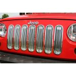 Rugged Ridge 11401.20 Polished Aluminum Billet Style Grille Insert