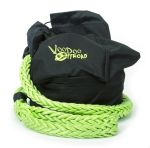 Voodoo Offroad 1300000 Recovery Rope Bag Green Nylon Mesh Front Panel Zipper