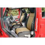 Rugged Ridge 13296.04 Black/Tan Seat Cover Kit