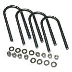 Superlift 11244 5/8x3.125x11 Round U-Bolts 4-Pack w/Hardware