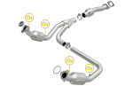 MagnaFlow 52134 3'' Diameter Direct Fit Catalytic Converter