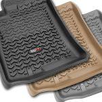 Rugged Ridge 82902.40 Front Black Floor Liner Kit