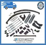 Pro Comp K4035BP 6'' Stage I w/Blocks and Add-a-Leafa & Pro Runner Shocks for 2005-2007 Ford F-250 / F350 - V 10 Gas Engine