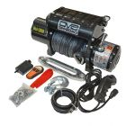 DV8 Offroad WB12SR 12000 pound Winch Black w/ Synthetic Line and Wireless Remote